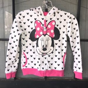Disney Minnie Mouse zip front hoodie with ears